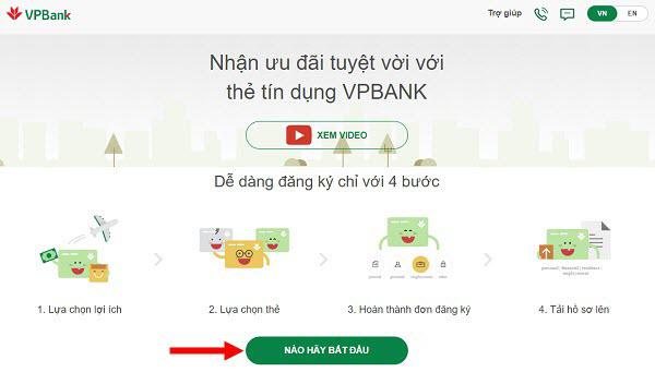 Mở thẻ tín dụng VP Bank, Làm thẻ Visa VP Bank, Làm thẻ VP Bank Online