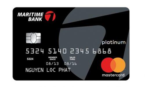 Biểu phí thẻ tín dụng Maritime Bank Platinum, thông tin CHI TIẾT nhất