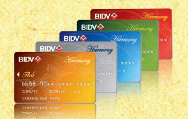 Các loại thẻ tín dụng quốc tế BIDV