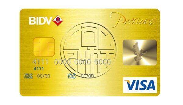 Thẻ tín dụng BIDV Precious, mở thẻ DỄ DÀNG, nhận ngay ƯU ĐÃI