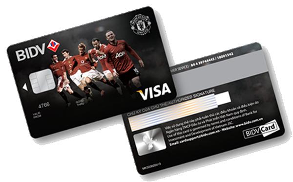 Thẻ tín dụng quốc tế BIDV Manchester United