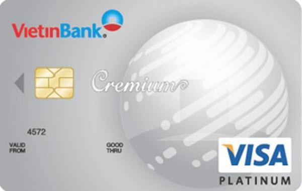 Thẻ tín dụng Vietinbank Visa bạch kim