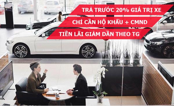 Vay mua xe ô tô trả góp, hạn mức 70% xe, 8 năm, lãi 7.9%/năm