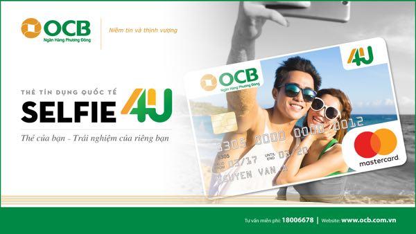 Thẻ tín dụng OCB Selfie For You, hạn mức đến 1 tỷ, trả góp 0%