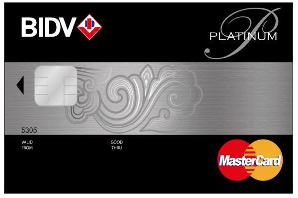 Hình ảnh mẫu thẻ BIDV MasterCard Platinum