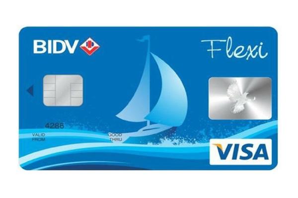 Hình ảnh mẫu thẻ BIDV Visa Flexi