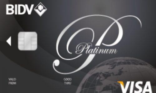 Thẻ BIDV Visa Platinum; miễn lãi 45 ngày, hoàn tiền 4.000.000 VNĐ/tháng