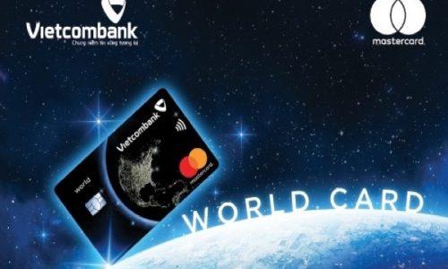 Làm thẻ Vietcombank MasterCard World; miễn lãi 55 ngày, bảo hiểm 10.5 tỷ