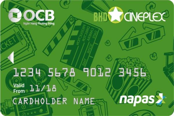 Hình ảnh mẫu  thẻ ghi nợ OCB BHD Star