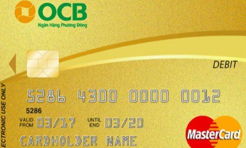 Thẻ ghi nợ quốc tế OCB; lãi suất số dư tiền gửi tốt nhất, ưu đãi 50% nhiều dịch vụ