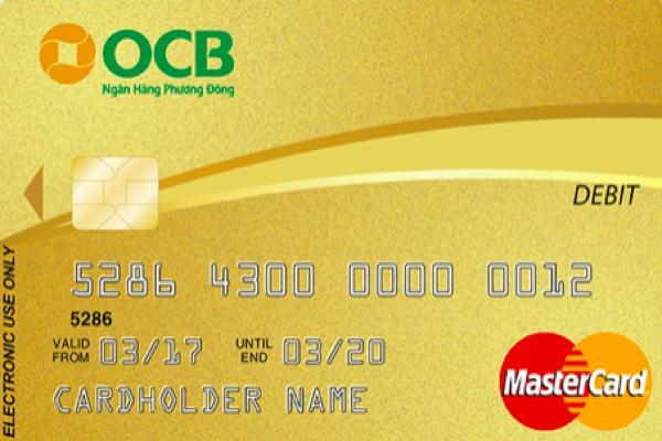 Hình ảnh mẫu thẻ ghi nợ quốc tế OCB