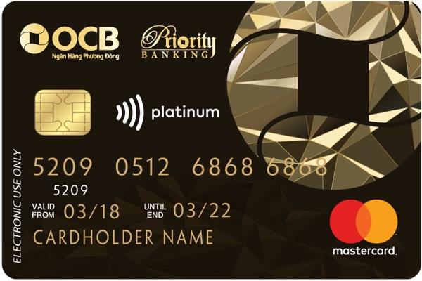 Hình ảnh mẫu thẻ tín dụng đặc quyền dành cho khách hàng ưu tiên OCB