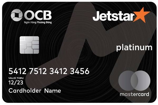 Hình ảnh mẫu thẻ tín dụng Jetstar của OCB
