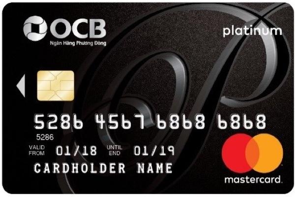 Hình ảnh mẫu thẻ tín dụng OCB hạng Platinum