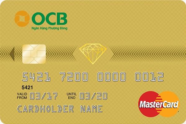 Hình ảnh mẫu thẻ tín dụng OCB hạng vàng