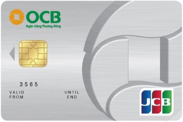 Hình ảnh mẫu thẻ tín dụng OCB JCB hạng chuẩn