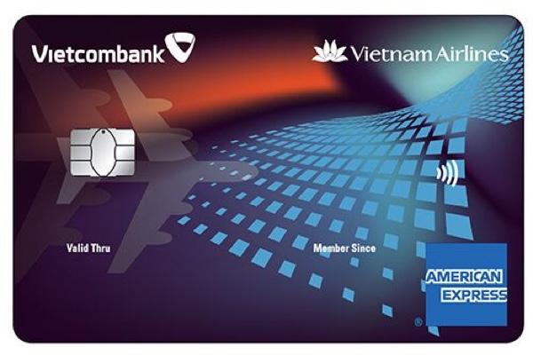 Làm thẻ Vietcombank Vietnam Airlines American Express, hạn mức 300 triệu