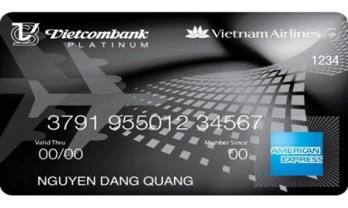 Thẻ Vietcombank Vietnam Airlines Platinum American Express; miễn lãi 50 ngày, trả góp lãi suất 0%