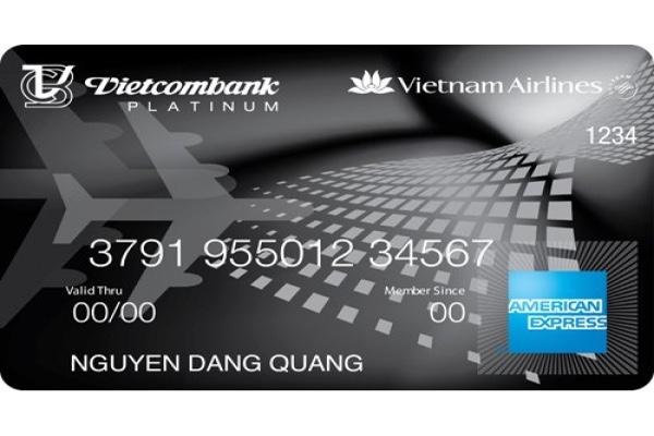 Hình ảnh mẫu thẻ Vietcombank Vietnam Airlines Platinum American Express