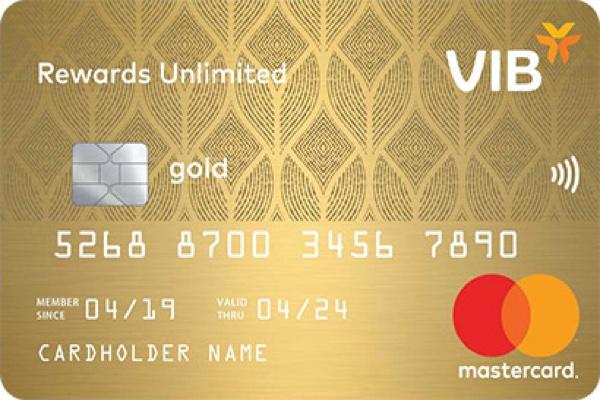 Hình ảnh mẫu thẻ VIB Rewards Unlimited
