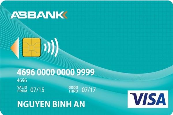 Hình ảnh mẫu thẻ ABBANK Visa Contactless Credit