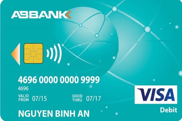 Đăng ký thẻ ABBANK Visa Debit; miễn phí phát hành, hạn mức 100 triệu