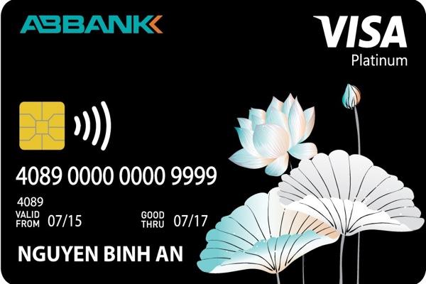 Thẻ ABBANK Visa Contactless Platinum, hạn mức 100 triệu, miễn lãi 45 ngày