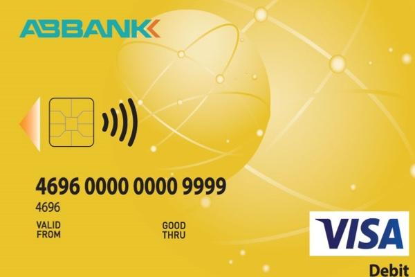Hình ảnh mẫu thẻ ABBANK Visa Debit Gold