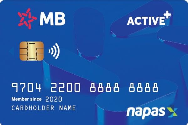 Đăng ký thẻ Active Plus MB Bank; lãi suất hấp dẫn, hạn mức rút tiền 5 triệu