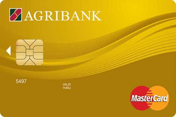 Làm thẻ Agribank Mastercard Gold; hạn mức 300 triệu, hưởng bảo hiểm 15 triệu