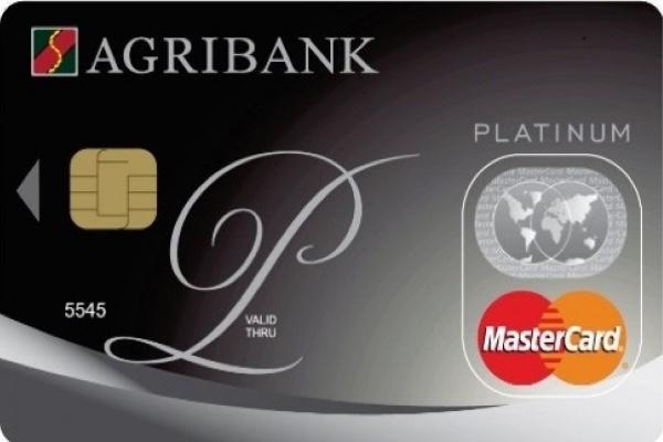 Đăng ký thẻ Agribank Mastercard Platinum; hạn mức 2 tỷ, nhận bảo hiểm 100 triệu