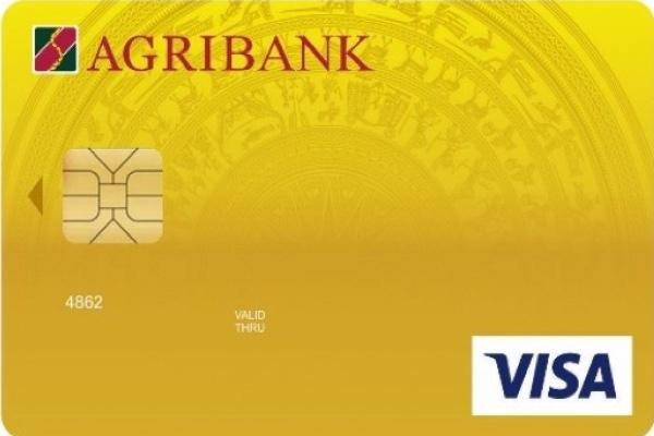 Hình ảnh mẫu thẻ Agribank Visa Gold