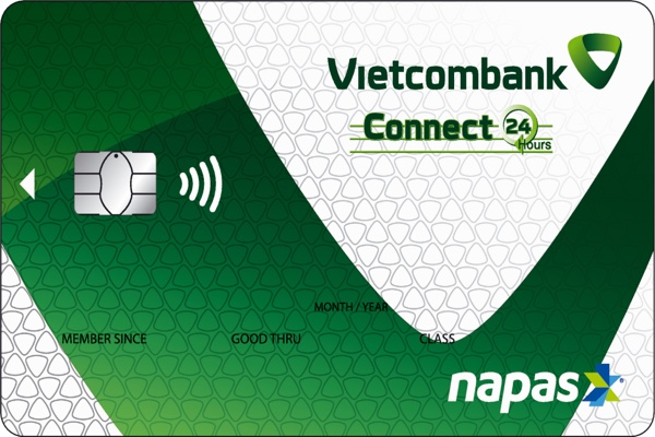 Làm thẻ ghi nợ nội địa Vietcombank Connect24; hưởng lãi không kỳ hạn, hạn mức 200 triệu
