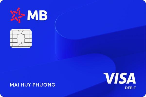Làm thẻ ghi nợ quốc tế MB Visa; hạn mức 100 triệu, nhận bảo hiểm 500.000 USD