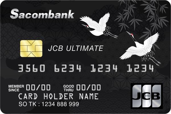 Thẻ JCB Ultimate Sacombank; trả góp lãi suất 0 %, hạn mức không giới hạn