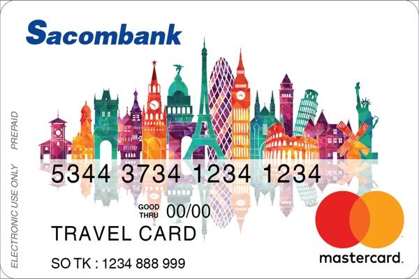 Đăng ký thẻ MasterCard Travel Sacombank; hoàn tiền 2%, ưu đãi 50% các dịch vụ