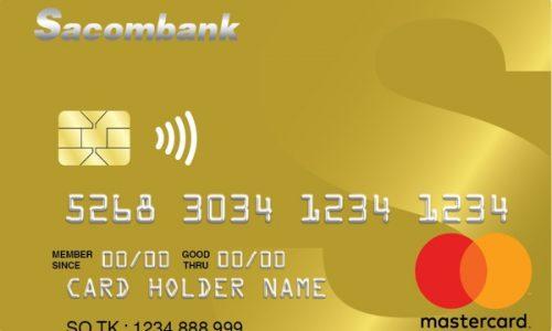 Làm thẻ Sacombank Mastercard; hạn mức 200 triệu, giảm 50% nhiều dịch vụ