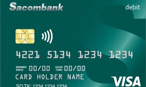 Làm thẻ Sacombank Visa Debit; giảm 50% nhiều dịch vụ, lãi suất hấp dẫn