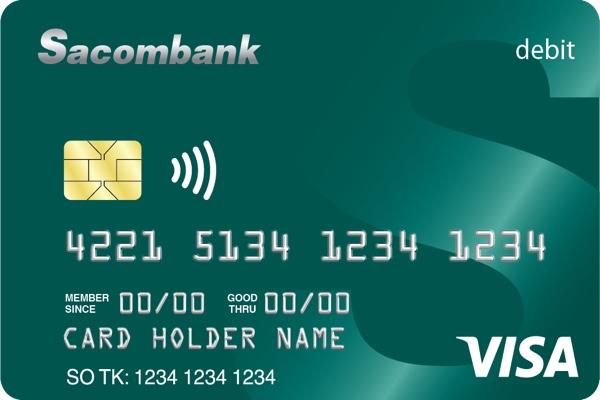 Hình ảnh mẫu thẻ Sacombank Visa Debit