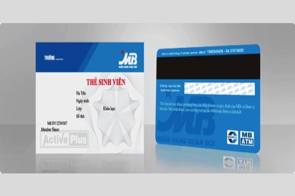 Thẻ sinh viên MB Bank; tích hợp thẻ thư viện, hạn mức 20 triệu
