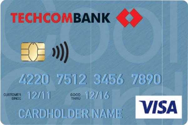Hình ảnh mẫu thẻTechcombank Visa Classic