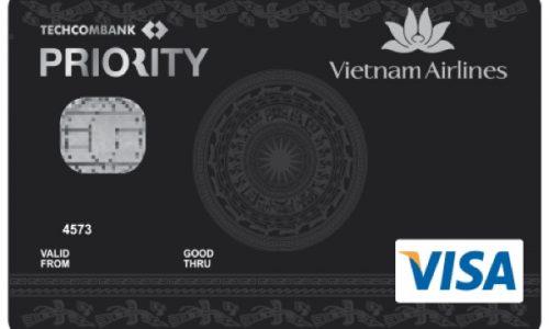Thẻ Vietnam Airlines Techcombank Visa Platinum Priority; tích dặm đổi quà