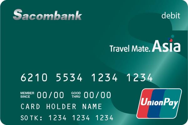 Hình ảnh mẫu thẻ thanh toàn  Sacombank UnionPay