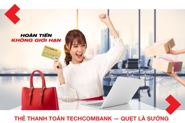 Mở thẻ thanh toán Techcombank Visa Classic, giảm 20% phí thường niên