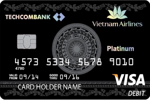 Thẻ thanh toán Vietnam Airlines Techcombank Visa Platinum; hạn mức 600 triệu/ngày