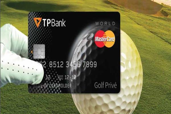 Hình ảnh mẫu thẻ tín dụng TPBank World MasterCard Golf Privé