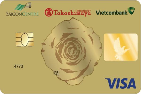 Thẻ tín dụng đồng thương hiệu Saigon Centre Takashimaya Vietcombank Visa, hạn mức 300 triệu