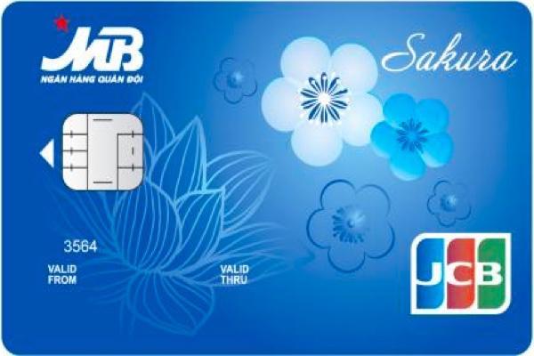 Hình ảnh mẫu thẻ tín dụng quốc tế MB JCB Sakura