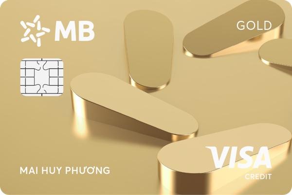 Hình ảnh mẫu thẻ tín dụng quốc tế MB Visa