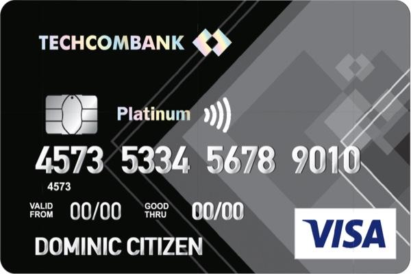 Làm thẻ tín dụng Techcombank Visa Platinum; hạn mức 1 tỷ, miễn lãi 45 ngày